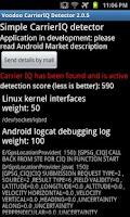 Screenshot of Voodoo Carrier IQ detector