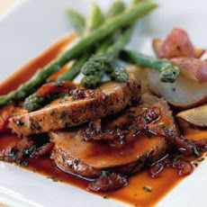 Roast Pork with Apricot Demi-Glace