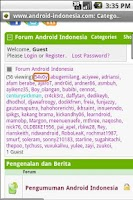 Screenshot of Android Indonesia