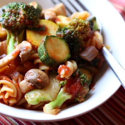 Summer Vegetable Pasta Skillet