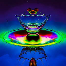 Over the Rainbow by Chandra Irahadi - Abstract Water Drops & Splashes