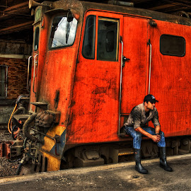 Anticipation_2 by Robert Johnson - Transportation Trains ( train, diesel engine )