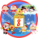 Christmas Sticker Widget Eight icon