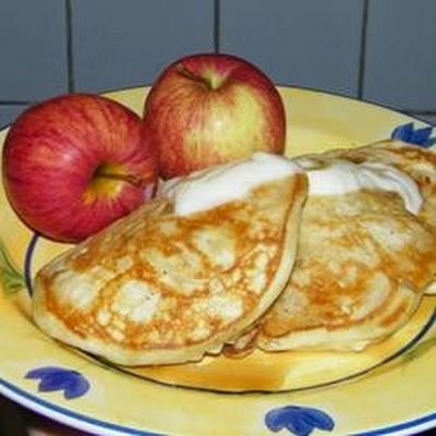 Apple Yogurt Pancakes