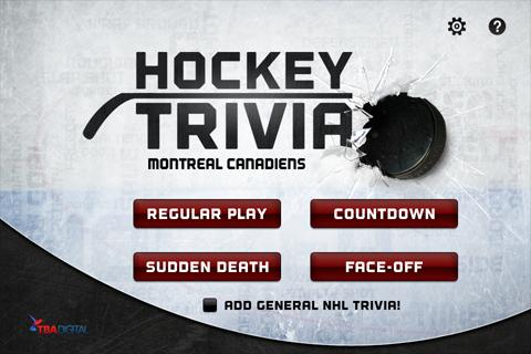 Hockey Trivia-Canadiens