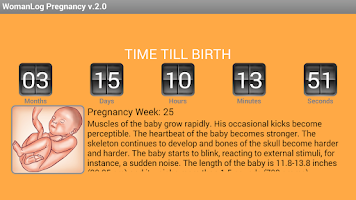 Screenshot of WomanLog Pregnancy Calendar