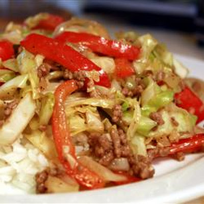 Black Pepper Beef and Cabbage Stir Fry