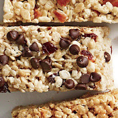 Cherry-Chip Chewy Crispy Bars