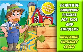 Screenshot of Barnyard Puzzles for Kids