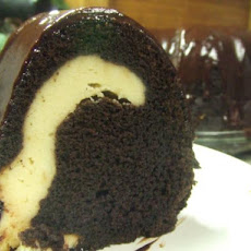 Rich Fudge Ribbon Bundt Cake