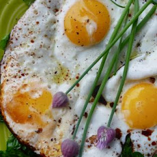 Balsamic Fried Eggs With Wilted Greens (In Under 10 Minutes)