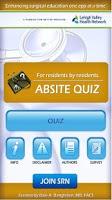 Screenshot of ABSITE quiz