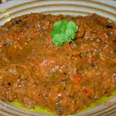 Spicy Aubergine (Eggplant) and Red Pepper Tapenade - Dip
