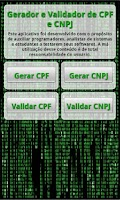 Screenshot of Gerador e Validador CPF e CNPJ