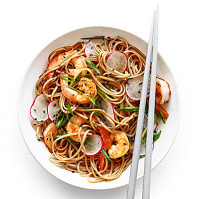 Spicy Soba Noodles with Shrimp