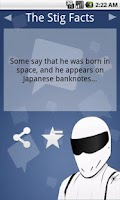 Screenshot of The Stig Facts