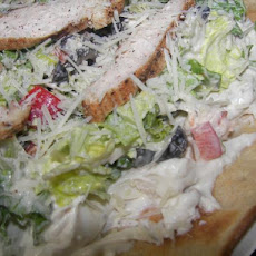 Chicken Caesar Salad Pizza, Pampered Chef