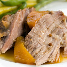 Slow Cooker Pork With Peaches