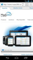 Screenshot of MaaS360 Browser