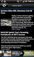 Screenshot of Nascar News