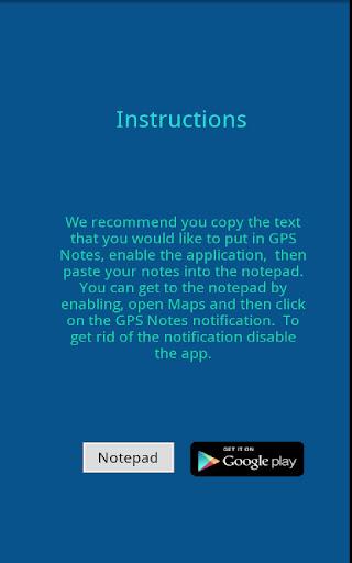 GPS Notepad