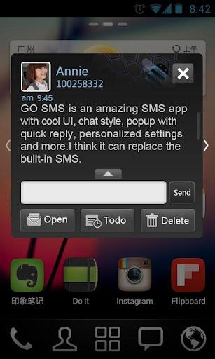 GO短信加强版黑色主题