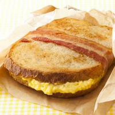 Bacon-Wrapped Egg Sandwich