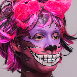 Cheshire Cat by Andro Andrejevic - People Portraits of Men ( cheshire cat, alice in wonderland, photoshoot, smile, face painting )