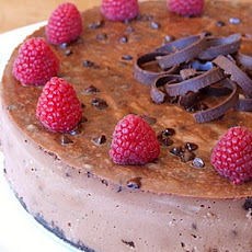 Chocolate- Chocolate Chip Cheesecake