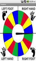 Screenshot of Twister Spinner