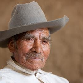 Manuel the Tsotil Sharp-shooter by Richard Duerksen - People Portraits of Men ( cowboy, mexico, tsotil, chiapas )