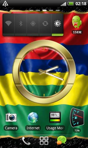 Mauritius flag clocks