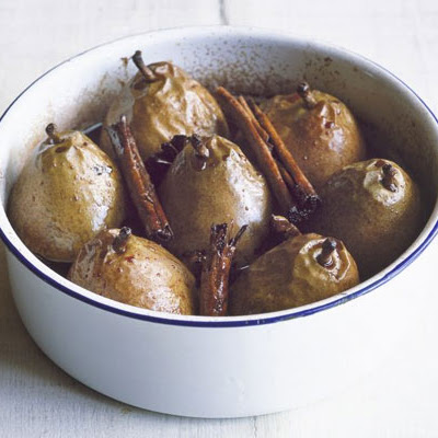 Pears Roasted In Red Wine