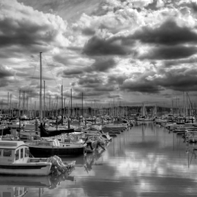 wasting my time away by Todd Reynolds - Black & White Landscapes ( relax, tranquil, relaxing, tranquility,  )
