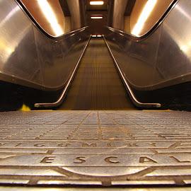 Escalator - Short Distance Transportation by Sanjib Paul - Transportation Other ( stairs, railway, california, bart, transportation, escalator )