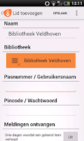 Screenshot of de Bibliotheek