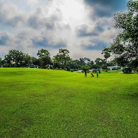 Golf Round by Topu Saha - Landscapes Weather ( golf course, bangladesh, nature, golf, round, landscape, savar, dhaka )