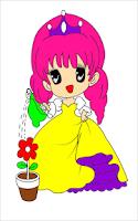 Screenshot of Princess coloring - Kids game