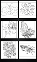 Screenshot of Butterflies coloring book