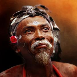 Seniman by Bli Gede Bagoes ( I Gd P Wiryawan Tohjiwa ) - People Portraits of Men (  )