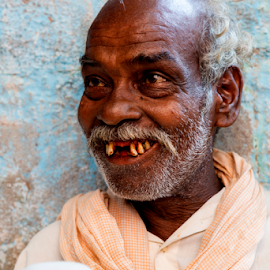 I have theb last laugh by Rajesh Kumar Gupta - People Portraits of Men ( old, life, laugh, happy, smile, man, emotion )