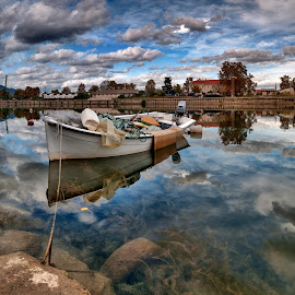 by Stjepan Jozepović - City,  Street & Park  Neighborhoods ( clouds, water, ship, croatia, metkovic )