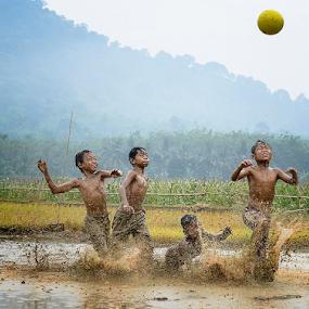Mud's Football Player by Pimpin Nagawan - Babies & Children Children Candids