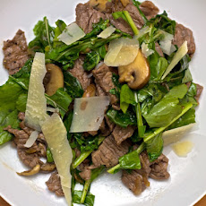Dinner Tonight: Steak Salad with Balsamic and Wilted Arugula