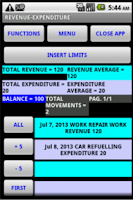 Screenshot of Financial budget management