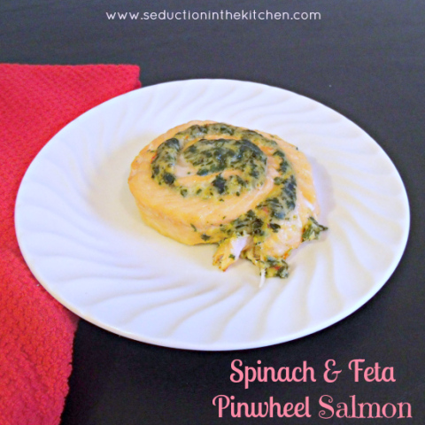 Salmon and Feta Pinwheel Salmon