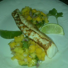 Grilled Halibut & Pineapple Mango Salsa (Gluten-Free)