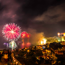 Madeira 2015 by Rubina Delgado - City,  Street & Park  Night ( lights, madeiraisland, fireworks, night, portugal )