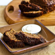 Horseradish Meatloaf with Caramelized Onions and Sour Cream-Horseradish Sauce