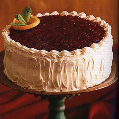 Cranberry-Glazed Orange Layer Cake
